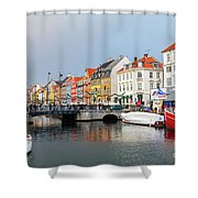 Old Harbour Of Nyhavn  Shower Curtain