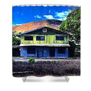 Old Hawaii Store - Signed Shower Curtain