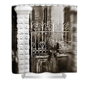 Old Heart Gate Shower Curtain