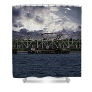 Old Highway 41 Swing Bridge Over The Wando River In Charleston Sc Shower Curtain