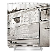 Old Hippie Peace Van Shower Curtain