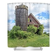 Old Historic Barn In Vermont Shower Curtain