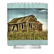Old Home Falling In Shower Curtain