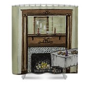 Old Homestead Fireplace  Shower Curtain