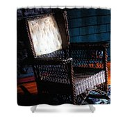 Old Homestead Sunset Shower Curtain