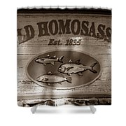 Old Homosassa Shower Curtain