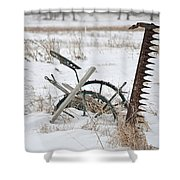 Old Horse Drawn Sickle Mower Shower Curtain