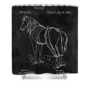 Old Horse Harness Patent  Shower Curtain