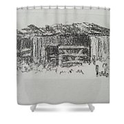 Old Horse Shed  Shower Curtain
