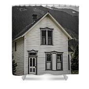 Old House And Dandelions Shower Curtain