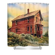 Old House Animas Forks Colorado Shower Curtain