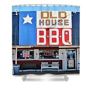 Old House Bbq Shower Curtain