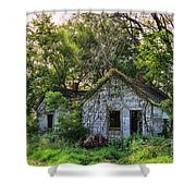 Old House Blues Shower Curtain