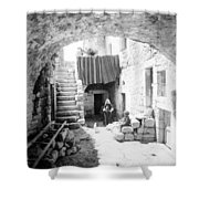 Old House Court Shower Curtain