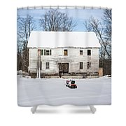 Old House In The Snow Springfield New Hampshire Shower Curtain