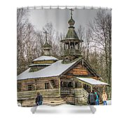 Old House Izba Shower Curtain