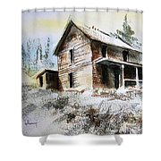 Old House Marysville Ghosttown Montana Shower Curtain