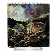 Old Houses 5648 Shower Curtain