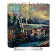 Old Houses In Hour Shower Curtain