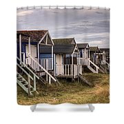 Beach Huts At Old Hunstanton Shower Curtain