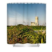 Old Hunstanton Lighthouse North Norfolk Uk Shower Curtain