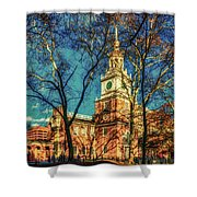Old Independence Hall Shower Curtain