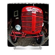 Old International Harvester Tractor Shower Curtain