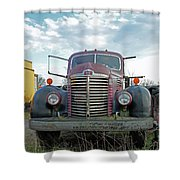 1946 International Truck Shower Curtain