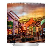 Old Irish Town The Dingle Peninsula Late Sunset Shower Curtain