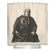 Old Irish Woman, First State By George Bellows Shower Curtain