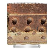 Old Iron Hinges Shower Curtain