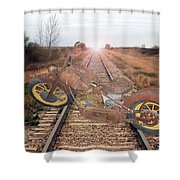 Old Iron Horse Shower Curtain