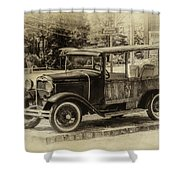 Old Jalopy In Wiscasset Shower Curtain