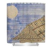 Old Japan At Nightfall Shower Curtain