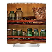 Old Jars Shower Curtain by Lana Trussell