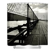 Old Jetty Shower Curtain