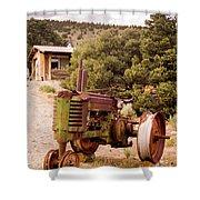 Old John Deer Tractor Shower Curtain