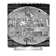 Old Kendal Sign Shower Curtain