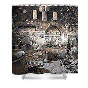 Old Kitchen Shower Curtain