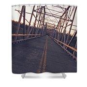 Old Knik Bridge 3 Shower Curtain