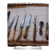 Old Knives Shower Curtain