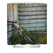 Old Ladder Shower Curtain