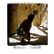Old Lady Tangier. Shower Curtain