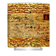 Old Letter Shower Curtain