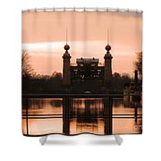 Old Lift Lock Shower Curtain