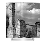 Old Limestone House Ruins Shower Curtain