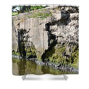Old Lock And Dam Shower Curtain