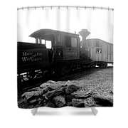 Old Locomotive Shower Curtain