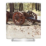 Old Logging Wagon Shower Curtain