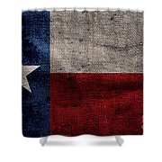 Old Lone Star Flag Shower Curtain
